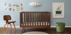 Ahh…saw this ubabub nursery on Pintrest yesterday. It is so soothing…maybe because it is so clean. The nifty timber cot is so mid-century! (Ha. That was for my sister, she is an interior designer and is obsessed with mid-century modern furniture.)