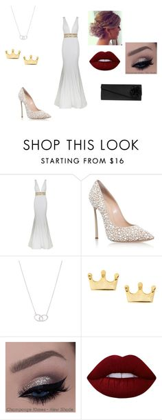 """""""Snow White"""" by c-stammer on Polyvore featuring Mode, Jovani, Casadei, Tiffany & Co. und Lime Crime"""