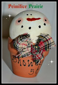 Primitive snowman snow ball snowman snowman by PrimitivePrairie