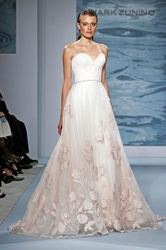 Stunning Ombre Wedding Dresses   Tinted Flowers