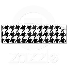 Select Your Color Houndstooth Pattern Bumper Sticker