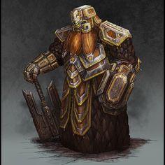 Lorde Anão, Guerreiro, Paladino, armadura mágica pesada e machado
