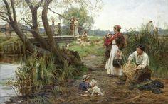ART~ Frederick Morgan~ The Basket Weaver.