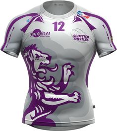The Scottish Thistles team kit. Custom Basketball Uniforms, Sports Uniforms, Football Shirts, Sports Shirts, Rugby Jersey Design, Rugby Kit, Best Football Players, Sublime Shirt, Jersey Boys