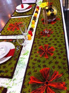 Royal-Queen Brain Party & Event: Kente inspired wedding decor by Royal-Queen.see photos