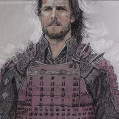 Last Samurai (2011) pastels and colored pencils on colored paper by Drew Struzan (detail).