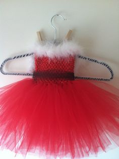 Red Christmas TuTu Dress by RyzieBoutique on Etsy, $23.00