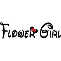 Flower Girl Maid of Honor or Bridesmaid Wedding DIY Iron U PRINT... ($5) ❤ liked on Polyvore