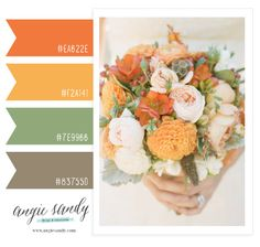 This color palette would look great against the fall trees for family photos!