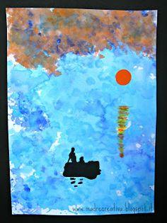 Arte per bambini: dipingere quadri impressionisti con la carta velina!