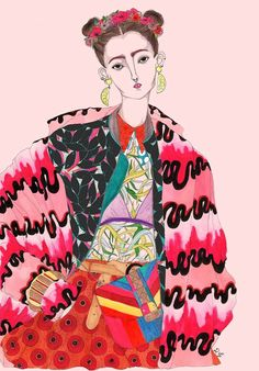 """Fashion Drawings Illustration by Jérémy Combot - Self-taught illustrator Jérémy Combot says that he's """"guided by passion"""" in creating his fashion-centric portraits. They're colorful and insanely detailed. Art And Illustration, Illustrations And Posters, Fashion Illustrations, Silhouette Mode, Poster S, Fashion Sketches, Fashion Drawings, Painting & Drawing, Fashion Art"""