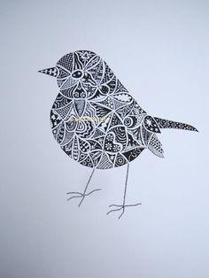 zentangle easy zen doodle doodles simple patterns drawings robin hand bird animal birds zentangles drawn screenprint drawing draw doodling mandala