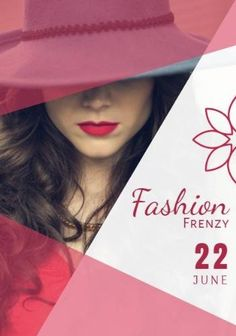 Fashion girl red an pink shopping event flyer template with an image of a pretty woman that can be edited in Design Wizard. Event Flyer Templates, Pretty Woman, Girl Fashion, Red, Pink, Shopping, Image, Design, Women