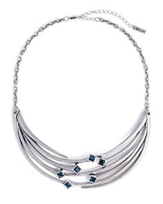 Branch Necklace - I love this one a lot, too. Depending on the depth of the purple in the dress, the blue in this could work