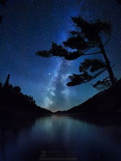 I love the stars mixed in with the rerlection of the water ~ Northern Sky - Killarney Provincial Park, Killarney, Ontario, Canada Beautiful Sky, Beautiful World, Beautiful Images, Ontario Parks, Ontario Travel, Sky Full Of Stars, Space And Astronomy, Canada Travel, Milky Way