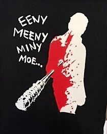 The Walking Dead Eeny Meeny Miny Moe Tshirt by ATshirtandTshirts on Etsy