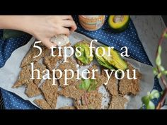 Tips for Healthier and Happier You + Recipes for almond butter date s superfood snack bliss balls, seed crackers and green smoothie - cam & nina