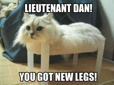 Lieutenant Dan You Got New Legs