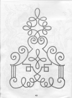 Tambour Embroidery, Hand Embroidery Patterns, Fabric Patterns, Embroidery Designs, Sewing Patterns, Motif Soutache, Soutache Pattern, Cross Stitch Art, Cross Stitch Embroidery