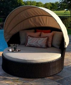 This modern, fun and romantic lounger makes a perfect retreat for warm summer afternoons and cool summer nights.