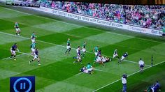 CurrencyFair ads at Ireland vs Scotland Rugby World Cup warm-up match at the Aviva