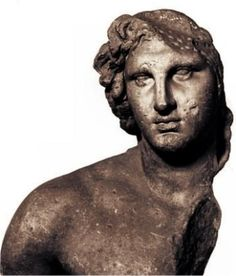 """Bust probably of Alexander. Known as the """"Inopos"""" since it was once thought to represent the river-god Inopos. #Louvre #Archaeology historical #Macedonia, #Greece"""