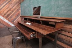Rustic Reclaimed Audio Video Production Desk for Music + Film + Graphic Design + Creative Office