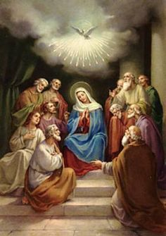 Glory Be Prayer - Catholic Worksheet: Pentecost - The Descent of the Holy Ghost Upon The Apostles and Mary is one of the manifestations of the Holy Ghost in the Bible. Catholic Confirmation, Catholic Saints, Roman Catholic, Praying The Rosary, Holy Rosary, Blessed Mother Mary, Blessed Virgin Mary, Mother Teresa, Religious Pictures