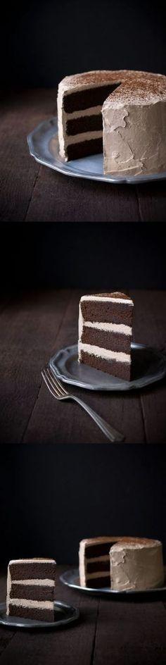 Chocolate Espresso Layer Cake 1 hr to make, serves 1
