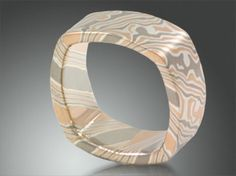 Square Mokume Ring.    I like the color, and pattern, not the shape.