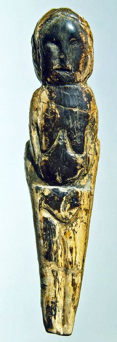 Goddess or Female figurine, found Mal'ta Site in Siberia- Mammoth tusk engraved, height 9 cm, circa 23 000-19 000 BCE