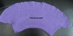 ŞİŞ İLE ÖRÜLEN EN KOLAY ÖRGÜ ÇOCUK BOLERO (RESİMLİ ANLATIMLI) | Nazarca.com Baby Mermaid, Beanie, Crochet Coat, Beanies, Beret