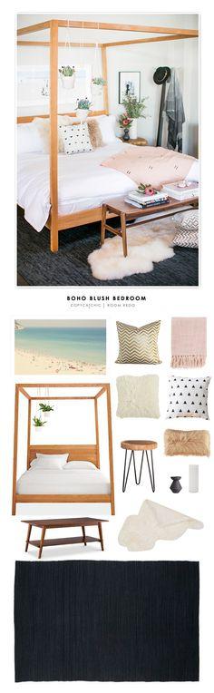 Copy Cat Chic Room Redo | Boho Blush Bedroom