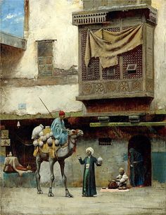 Charles Sprague Pearce (Boston, 1851 - París, 1914) El vendedor de cerámica en la ciudad vieja de El Cairo / The pottery seller in Old City Cairo