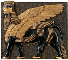 Assyrian Winged Bull Wall Sculpture by Design Toscano. $24.95. Hand-painted in ebony and gold tones. Cast in Quality Designer Resin. QL13621 Features: -Material: Resin.-Two tone black and gold.-Hand painted in ebony and gold tones.-Cast in quality designer resin.