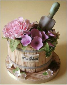 "This cake would be a charming addition to the ""children's garden party theme"""