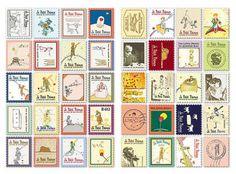 Aliexpress.com da dan deki 160 adet/lot( 2 set) eski pul çıkartmaları scrapbooking kağıt Retro kule Alice tavşan dekorasyon etiket