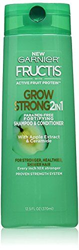 Garnier Fructis Grow Strong Fortifying 2 in 1 Shampoo and Conditioner 12 Fl Oz (Pack of 2) >>> This is an Amazon Affiliate link. Click image for more details.