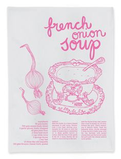 recipe t.towel - French onion soup