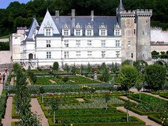 The Gardens of the Château de Villandry Villandry is best known, at least abroad, as France's archetypal potager, a kitchen garden elevated to a regal plain and Frenchified to the maximum, with its seemingly endless geometric parterres edged in immaculately clipped boxwood