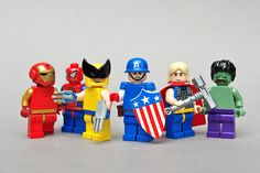 Avengers  Iron Man, Spider-Man, Wolverine, Captain America, Thor, and The Hulk