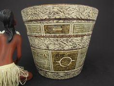 Großer Vintage Keramik Übertopf / SPARA / Ritzdekor | West German Pottery | 70er von ShabbRockRepublic auf Etsy