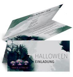 Einladungskarte mit Falz Seite für Halloween von www.onlineprintxxl.com #einladungskarte #karten #halloweenparty
