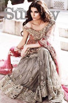 Combo Simple Pakistani Walima dress