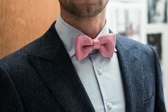 Noeud papillon en tricot #mode #mariage #wedding #bowtie