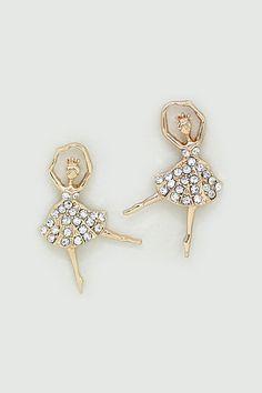 Crystal Ballerina Earrings
