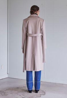 Cashmere Blend Coat - Ivory