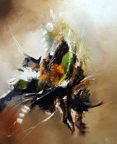 Tableau abstrait moderne L'Automne - Huile sur toile - Peinture contemporaine : Peintures par mimo-tarn