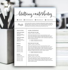 Modern Resume Templates Modern Resume Template & Cover Letter  Icon Set For Microsoft