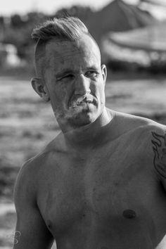Man portrait with smoke